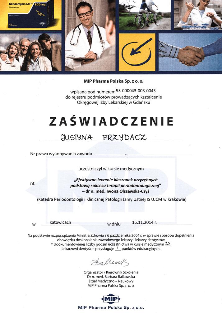 certyfikat AllSmiles